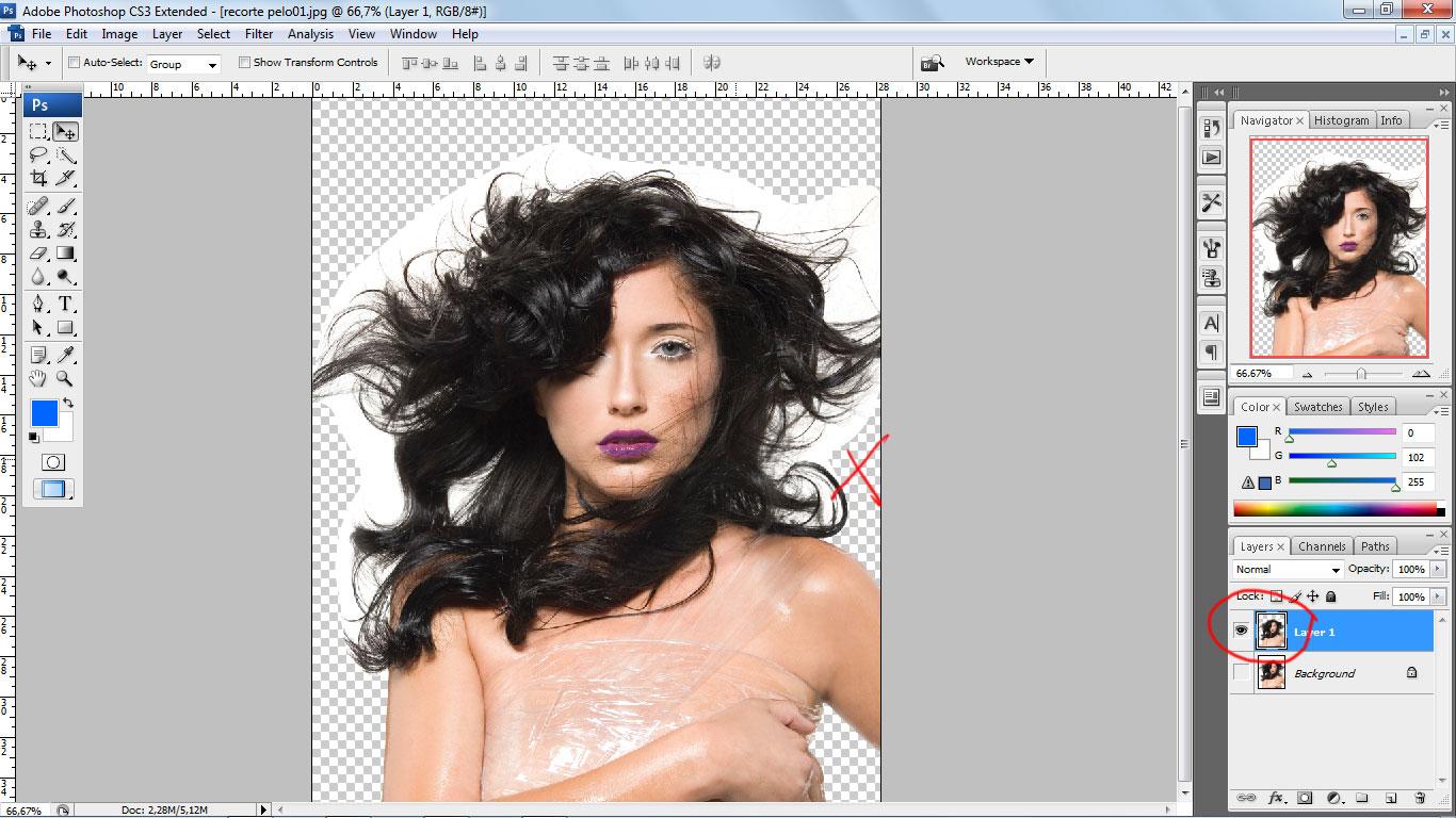 Videotutorial para recortar el pelo gracias a Photoshop
