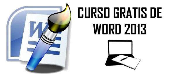 Curso gratis de Word 2013