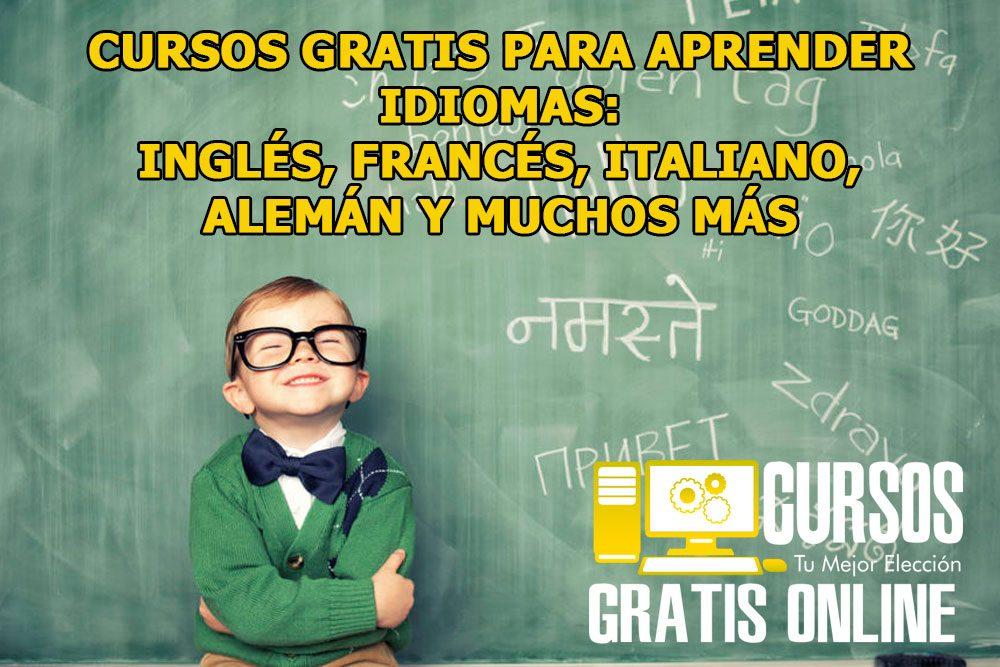 Cursos gratis para aprender idiomas